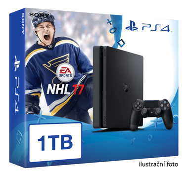 SONY PlayStation 4 - 1TB slim Black CUH-2016B + NHL 2017