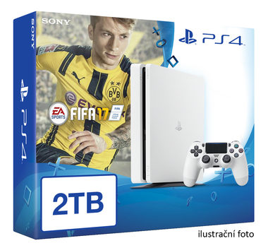 SONY PlayStation 4 - 2TB White CUH-1216A + FIFA 2017