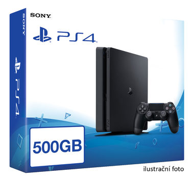 SONY PlayStation 4 - 500GB Slim Black CUH-2016A / černý