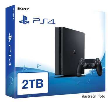 SONY PlayStation 4 - 2TB slim Black CUH-2016 / černý