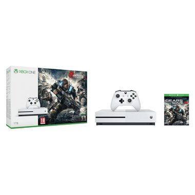 Microsoft XBOX ONE S 1TB White + Gears of War 4