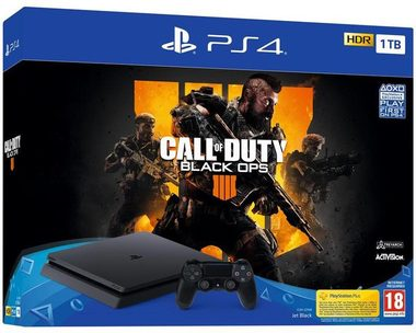 SONY PlayStation 4 - 1TB slim Black CUH-2216B + Call of Dutu Black Ops / černý