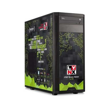 LYNX Grunex Gamer 2016 / Intel Core i3-6100 3.7GHz/ 8GB / 1TB + 120 SSD / MSI GTX950 2GB / DVDRW / Win10
