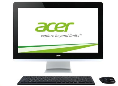 "Acer Aspire AZ3-705 / 21.5"" FHD / Intel Pentium 3805U 1.9GHz / 4GB DDR3L / 1TB / Intel HD / DVD / W10 / černá"