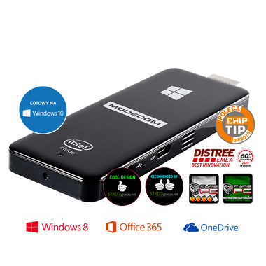 MODECOM FreePC Portable PC Windows Stick / Intel Atom  Z3735F 1.33GHz / 2GB RAM / 16GB / WiFI+BT / Windows 8.1