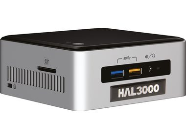 Počítač HAL3000 NUC Kit Core i3 W10P / Intel Core i3-6100U 2.3GHz / 4GB / SSD 120GB / WiFi / CR / W10P