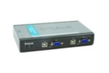 D-Link DKVM-4U / 4-Port Video +USB Switch / With 2 KVM cable