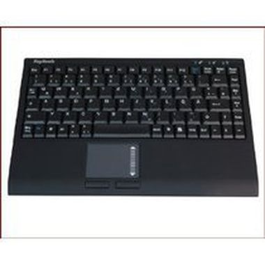 Keysonic ACK-540RF+ / US / Mini-Keyboard / Touchpad / RF2,4Ghz / černá