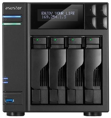 Asustor AS604T / 4x HDD / Intel Atom DC @2.13GHz / 1GB RAM / HDMI 1.3a / 2x USB 3.0 / 4x USB 2.0 / 2x GLAN