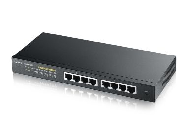 ZyXEL GS1900-8HP / 8-port Gigabit Web Smart PoE Switch / IPv6 / Fanless / Green (802.3az)