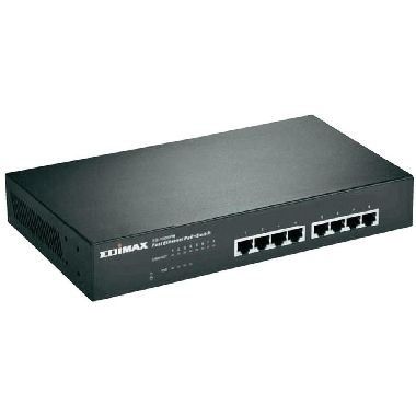 Edimax ES-1008P / 8-Port Switch / 10/100 Mbps / 8 x PoE+ / 150W / 802.3at