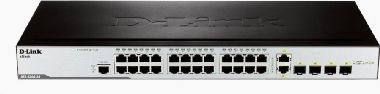 D-Link DES-3200-28 / 24-port 10/100 Layer 2 Managed Switch / 2x Combo 10/100/1000Base-T/100/1000 SFP / 2x 100/1000 SFP