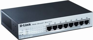 D-Link DES-1210-08P / 8-Port PoE Smart Switch / 8x RJ45 / Fanless
