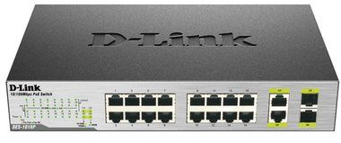 D-Link DES-1018P / 16x100 switch / 2xGbit / 2xSFP Smart