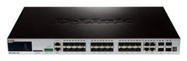 D-Link DGS-3620-28SC SI / 24-port SFP Layer 3 Managed Gigabit Switch / 4 Combo 1000BaseT/SFP / 4 10GE SFP+