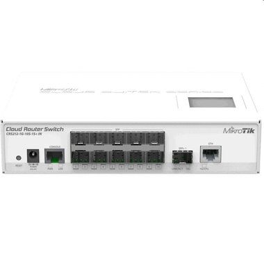MikroTik CRS212-1G-10S-1S+IN 64MB / Cloud Router Switch / 1xGLAN / 10xSFP cage / 1xSFP+cage / ROS L5 / LCD / PSU / 1RM
