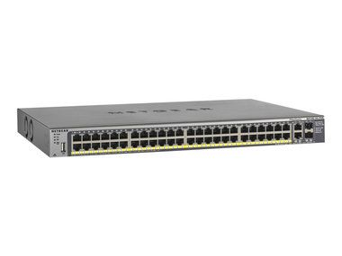 NETGEAR M4100-50-POE MANAGED SWITCH / 48 x Gigabit PoE / 2x SFP shared / Budget 380W / EPS 720W