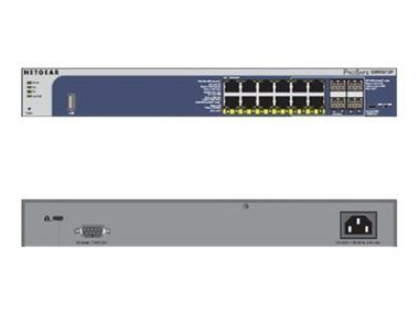 NETGEAR M4100 12x 10/100/1000 Layer 2+ Managed Gigabit Switch / with static routing / 4 SFP GBIC / 12 PoE ports