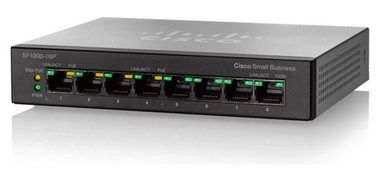 Cisco SF100D-08P-EU / Switch / 8-port 10/100 Mbps / PoE