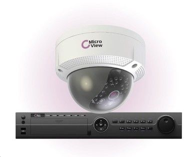 MicroView MVI-BUNDLE-002 / Mini IR Dome IP 1.3MP Outdoor / 16-channel recorder / 1TB hard drive / bílá