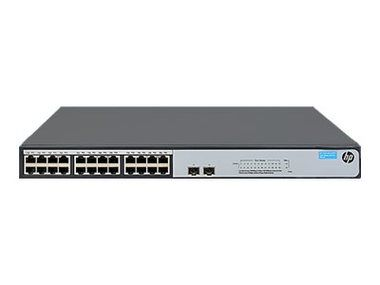 HP 1420-24G-2SFP+ Switch / 24 x 10/ 100/ 1000 + 2 x 1 Gigabit/10 Gigabit SFP+