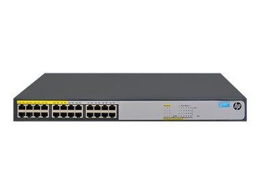 HP 1420-24G-2SFP+ Switch / 12 x 10/ 100/ 1000 (PoE+) + 12 x 10/ 100/ 1000