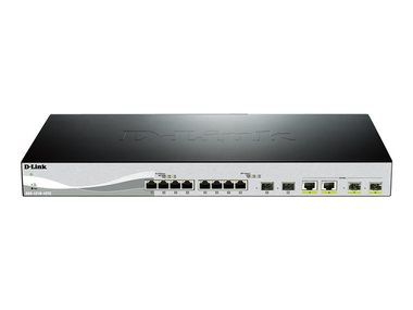 D-Link DXS-1210-12TC / Switch / 12-port 10/100/1000 Mbps / 8x gigabit / 4x gigabit/SFP