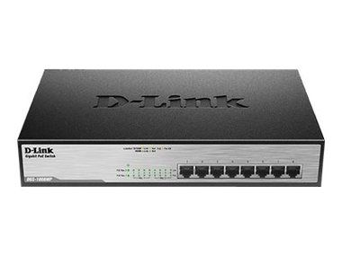 D-Link DGS-1008MP / Switch / 8-port 10/100/1000 Mbps / 8x PoE+