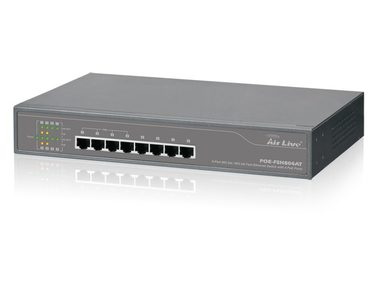 AirLive POE-FSH804at / Switch / 8x 100 Mbps / 4 PoE