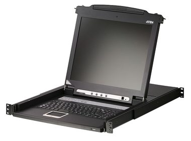 "ATEN 8-port KVM PS2+USB / OSD / rack / 17"" LCD / touchpad / klávesnice"