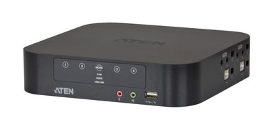 ATEN 4-port mini DisplayPort Dual View KVMP USB / audio / kabely