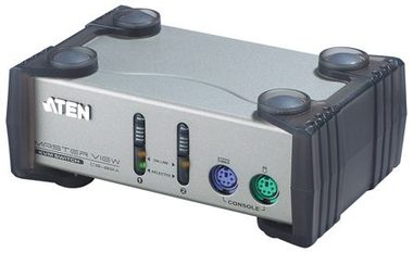 ATEN 2-port KVM PS2  / 1.2m kabely