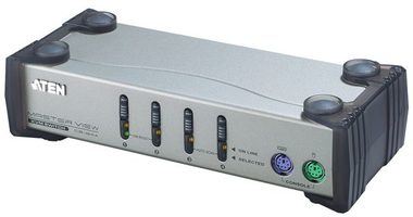 ATEN 4-port KVM PS2  / 1.2m kabely