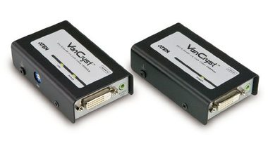 ATEN DVI Video-Audio Extender po Cat5E/Cat6 kabelu RJ-45 / 60m