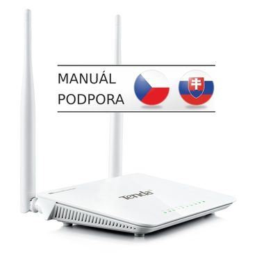 Tenda FH302D / Wireless-N High Power Router / 300 Mbps / 1x WAN / 4x LAN / 2x 5dBi