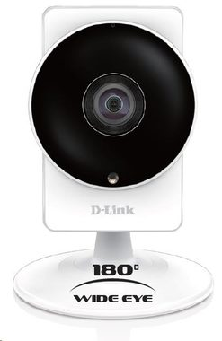 D-Link DCS-8200LH / HD 180° Home Panoramic Camera / 802.11ac / myDlink / Černá