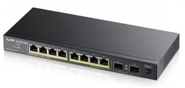 ZyXEL GS1100-10HP / 10-port Desktop Gigabit Ethernet switch / 8x Gigabit metal + 2x SFP / 802.3az (Green) / PoE 802.3at