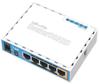 MikroTik RB951Ui-2nD / RouterBOARD / 650 MHz / 64MB RAM / 5x LAN / hAP / RouterOS L4