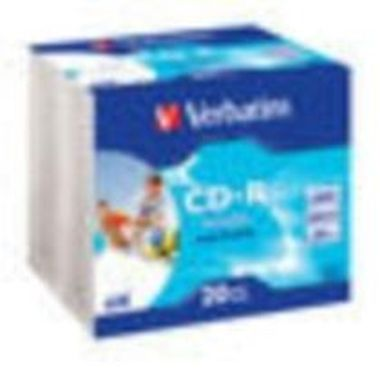 Verbatim 20ks CD-R 700MB AZO 52x / Wide Printable / SlimCase