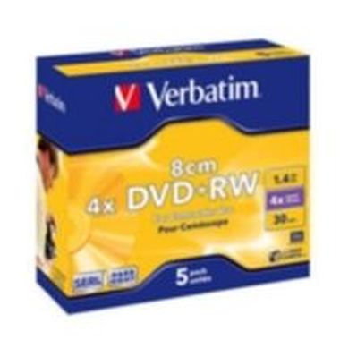 Verbatim 5ks mini DVD+RW 1.4GB 4x / Jewel Case