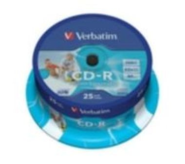 Verbatim 25ks CD-R 700MB AZO 52x / Wide Printable / Spindl