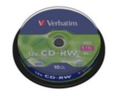 10ks CD-RW 700MB Verbatim 8-12x  High Speed / Spindl