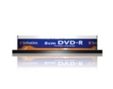 Verbatim 10ks mini DVD-R 1.4GB 4x / Injekt Printable / Spindl