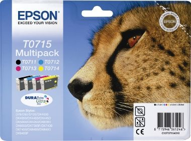 EPSON cartridge T0715 (black/cyan/magenta/yellow) multipack (gepard)