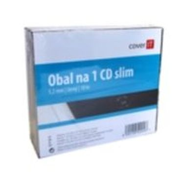 COVER IT box:1 CD slim 10pck/BAL černý