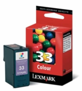 Lexmark No 33  HY Ink cartrige / 18CX032E / barevná