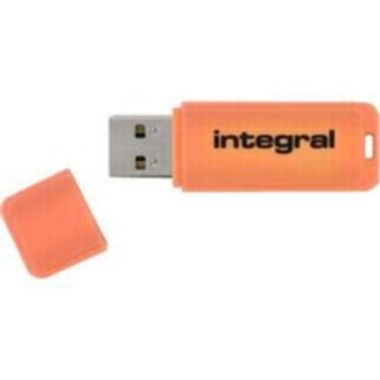 Integral Neon 4GB / Flash Disk / USB 2.0 / oranžový