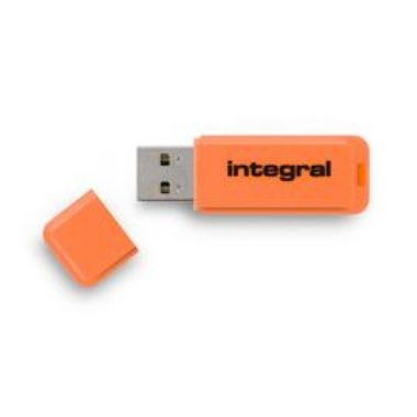 Integral Neon 32GB / Flash Disk / USB 2.0 / oranžový