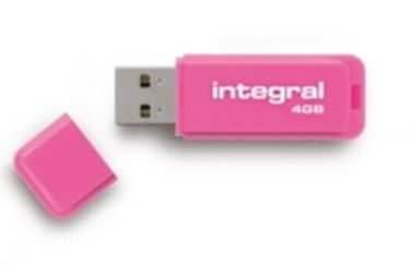 Integral Neon 4GB / Flash Disk / USB 2.0 / růžový