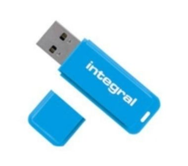 Integral Neon 16GB / Flash Disk / USB 2.0 / modrý